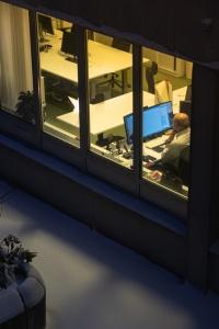 Ensam på kontoret
