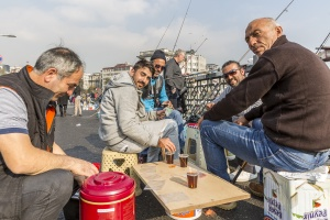 Fiskare vid bron ! Istanbul